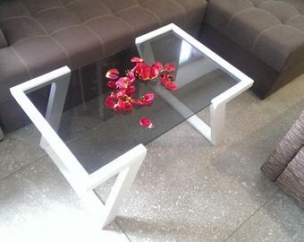 Coffee table, Wood and Glass Coffee table Modern coffee table Cafe table