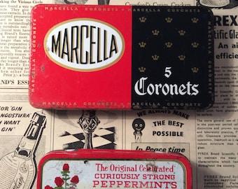 Vintage tins - altoids- altered art supply
