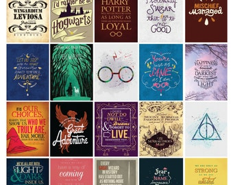 Harry Potter Planner Sticker Quote Set!  /Erin Condren Planner/ Me & My Big Ideas Planner/Scrapbooking