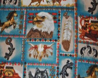 Native American Print Fleece Fabric - Sold BTY