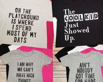 Infant/Child/Kids Play Tees