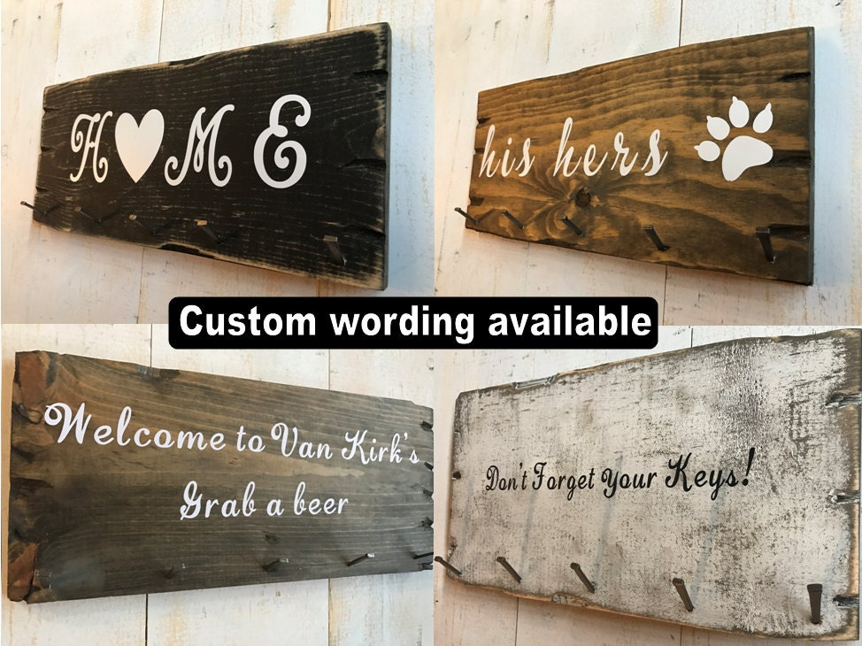 Key Hook For Wall, Key Holder For Wall, Key hangers, Key Hook Rack, Key  Hook Organizer, Personalized custom key holder organizer Key Rack