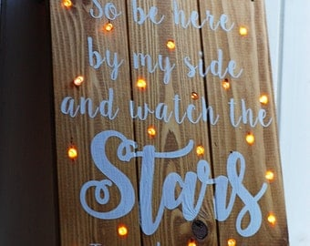 Light Up Sign, Wedding Signs, Painted Wooden Sign, Nursery Decor, Gift For Her, Baby Shower Gift, Twinkling Sign, Personalised Light Up Sign
