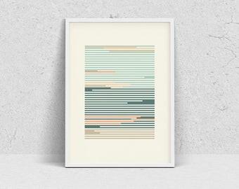 LINES minimalist poster, modern wall art print