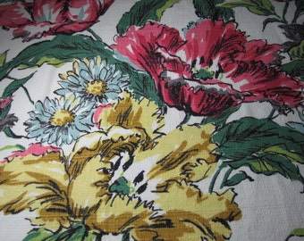 Vintage Hawaiian Barkcloth from the fifties 48 inches wide by 76 inches long