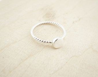 Sterling Silver Ring Blank - Sterling Silver Pad Ring - Sterling Silver Stacking Rings - Sterling Silver Wholesale
