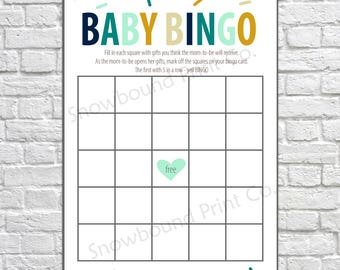 Baby Shower Bingo Game, Baby Shower Game, Bingo Game Cards, Sprinkled with Love, Baby Sprinkle, Bingo download, Baby Bingo