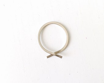 Open overlapping ring, simple minimal ring