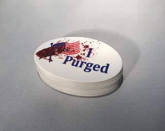 I Purged - horror sticker
