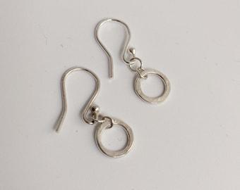 Knot Dangle Silver Earrings