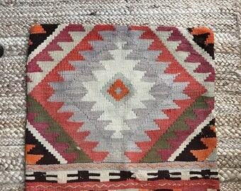 20 x 20 Vintage Turkish Kilim Pillow Cover