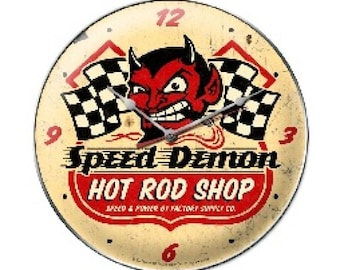 Speed Demon Hrshop Clock