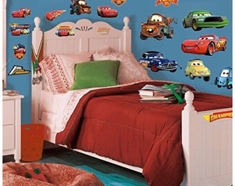 Pixars cars birthday/bedroom stick and peel wall decal decoration