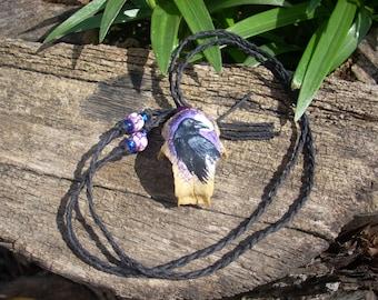 Bird Skull Necklace/Pendant- Raven