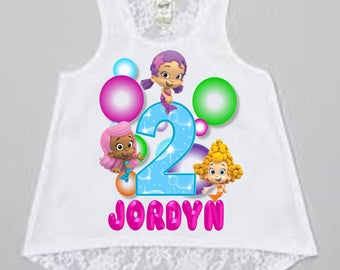 Bubble Guppies Birthday Shirt- Tank Top Available
