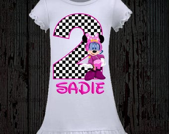 Minnie Mouse Roadster Racer Birthday Shirt - Minnie Roadster Racer Shirt - Dress Available