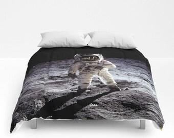 Space Bedding, Space Comforter, Astronaut Bedding, Outer Space Bedding, Outer Space Comforter, Moon Bedding, Moon Comforter