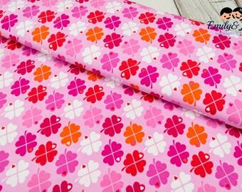 Jersey LUCKY CLOVER pink by Graziela