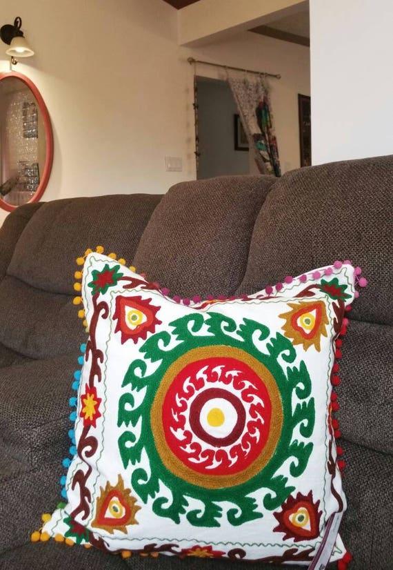 Boho Cushion Cover, christmas gift, decorative pillow, bench Cushion, Sofa Cushion Cover, Ethnic Cushion, boho cushion cover, Garden Pillow