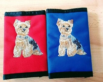 Embroidered Yorkie, Yorkshire Terrier Wallet