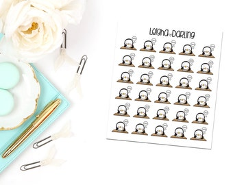 Homework Penguin Planner Stickers