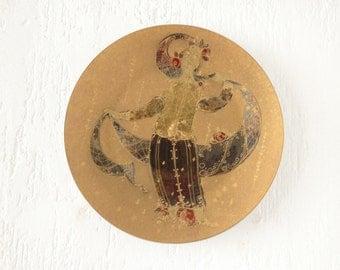 Rosenthal Studio-Linie Germany Bjorn Wiinblad gold glazed plate
