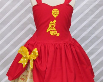 Girls Winnie the Pooh inspired birthday party pageant dress