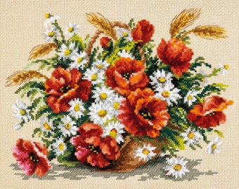 Cross Stitch kit Summer bouquet