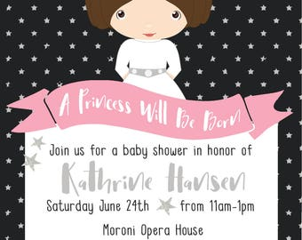 Princess Leia Baby Shower Invitation