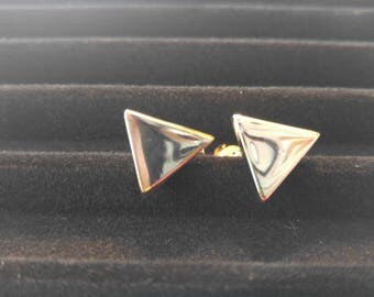 Vintage Silver Triange Cuff Links