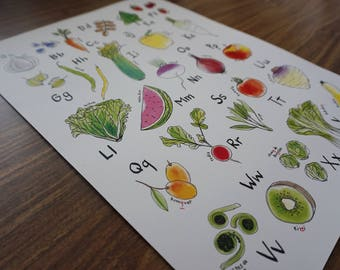 Fruits & Veggies Alphabet (in French)