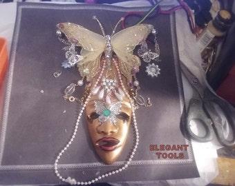 ELEGANT GODDESS MASK-Good luck-Prosperity-Hanging mask-wall mask