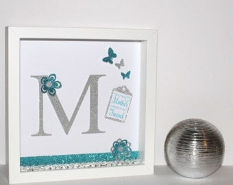 First my Mother forever my Friend 3D shadow box frame gift (Mothers Day)