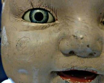 SUMMER SALE Creepy Antique Horsman Composition Doll