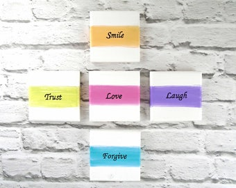 Inspirational wall art (set of 5) - Inspirational quotes - Words of wisdom for sacred space - Forgiveness gift - Spiritual wall decor