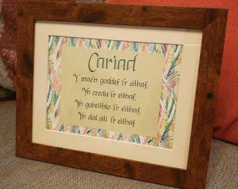 Cariad 1Corinthiaid13 - Love 1Corinthians 13