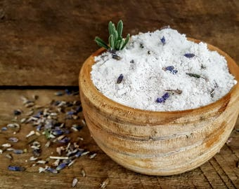 Lavender Bath Milk with Salts - Relax, Rejuvinate, Detox, Aromatherapy Spa Use