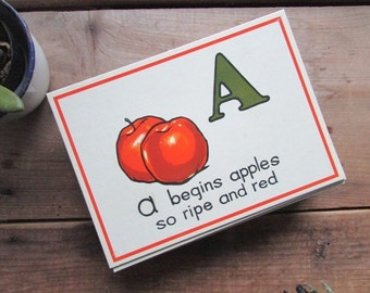 Alphabet Flashcard Vintage Letter Flashcard Choose ONE