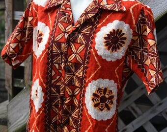 Vintage 1960s Paradise Hawaii Mens Shirt  Size Medium Viva Las Vegas