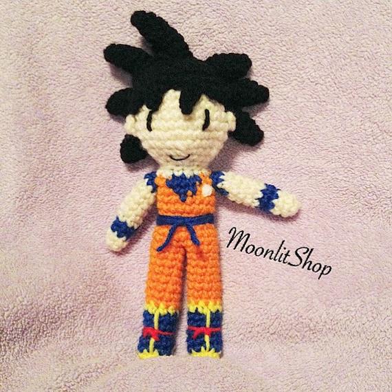 Amigurumi Dragon Ball Goku : Dragon Ball Z Inspired Crochet Goku by MoonlitShopPatterns ...