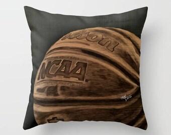 Basketball pillow, Decorative Pillow, Sports Decor