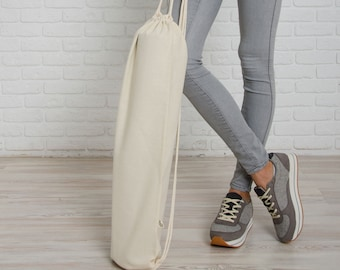 Ivory Foyo / cotton yoga mat backpack, yoga mat bag / eco friendly / Free Shipping