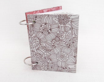 "Small Handmade Junk Journal Containing New and Vintage Paper 3.25 x 4.25"" - Smash Book, Pocket Book, Notebook, Paper Journal"