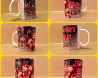 donkey kong junior kong nintendo personalised mug cup gift 11oz