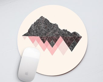 Mountains Mouse Pad Geometry Mousepad for Computer Mouse Mat Rectangular Mousepad Office Decor Office Gift Desk Accessories Round Pad PP5047