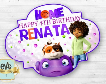 Dreamworks Home Movie Banner/ Home Film Birthday Banner/ Home Movie Party Theme / Birthday Backdrop / Birthday Banner