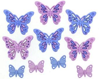 Sweet Butterflies - Dress It Up Buttons
