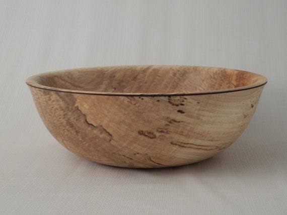 handmade wooden salad bowl wood salad bowl spalted curly maple handmade 685
