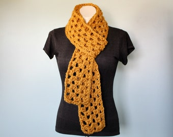 Extra Long Drape Scarf // Mustard Scarf // Long Wool Scarf // Boho Scarf // Fall Fashion // Winter Fashion // Gift for Her // Gift for Him