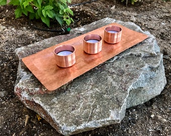 COPPER HAMMERED Catch All Tray Stunning Unique Gift boss Anniversary Birthday mother's day father's housewarming centerpiece coffee table